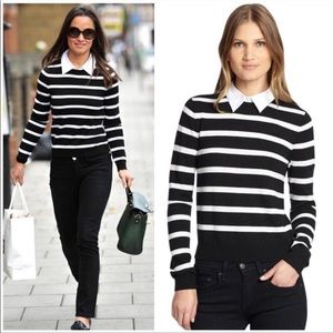 "Alice & Olivia ""Shellen Nock"" striped sweater M"